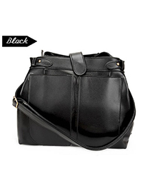 Personal Black Simple Design Pu Leather Shoulder bags