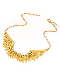 Floating Bronze Wing Shape Decorated Design Alloy Korean Necklaces