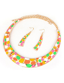 Free Multicolor Crescent Dot Desgin Set Alloy Jewelry Sets