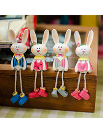 Exquisite Color Will Be Random Mini Rabbit Design Resin Household goods