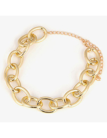 Timeless Gold Color Series Chain Simple Design Alloy Korean Necklaces