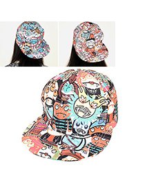 Homecoming Multicolor Zombies Pattern Design Cotton Polyester Fashion Hats