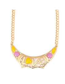 2013 Multicolor Romantic Hollow Out Love Design Alloy Korean Necklaces