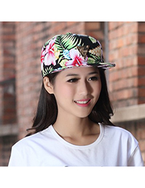 Rasta Multicolor Charm Flower Pattern Design Canvas Fashion Hats