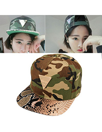 Natural Camouflage Camouflage Pattern Design Canvas Fashion Hats