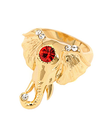 Celtic Gold Color Elephant Design Alloy Fashion Rings
