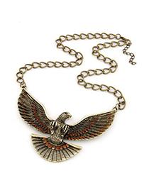 Baptism Orange Vintage Eagle Pendant Design Alloy Chains