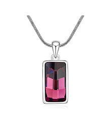 Free Purple Implied Meaning Goddess Of The Moon Design Austrian Crystal Crystal Necklaces