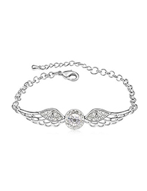 Lightning White Angel Wing Shape Design Austrian Crystal Crystal Bracelets