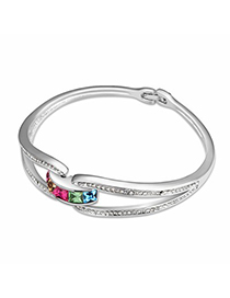 Limited Multicolor Simple Design Austrian Crystal Crystal Bracelets