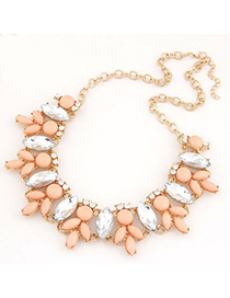 Foldable Orange Metal Inlaid Abstract Bee Design Alloy Korean Necklaces