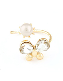 Outdoor gold color pearl decorated butterfly design