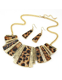 Fashion Multi-color Leaf Shape Decorated Jewelry Set