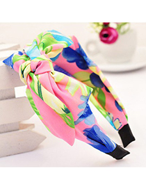 Decorative multicolor bowknot decorated printed design fabric Hair band hair hoop