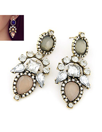Statement light pink diamond decorated geometrical shape design