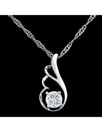 Arrowhead silver color diamond decorated wing shape pendant design alloy Bib Necklaces