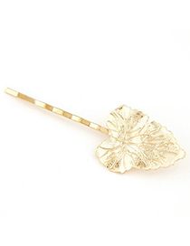 Snowboardi Gold Color Large Leaf Shape Decorated Simple Design