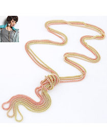 Profession Multicolor Metal Chains Weave Simple Design