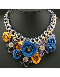 Detachable blue & yellow Flower Decorated Weave Design