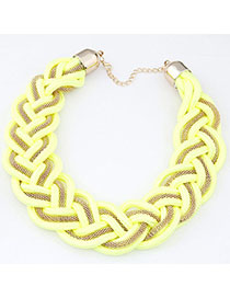 Roller Yellow Metal Decorated Weave Design
