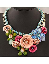 Inexpensiv Multicolor Flower Decorated Simple Design