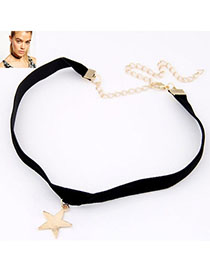 Mens Gold Color Star Pendant Decorated Simple Design Alloy Pendants