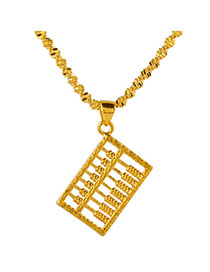 New Gold Color Abacus Shape Pendant Simple Design Cuprum Chains