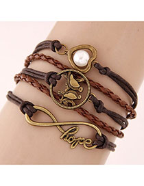 2013 Brown Bird Shape Decorated Multilayer Design