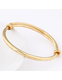 Kinetic Gold Color Pure Color Simple Design Alloy Fashion Bangles