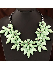 Flip Green Flower Shape Decorated Simple Design