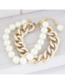 lucky White Pearl Decorated Simple Design