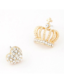 charming White Diamond Decorated Heart Shape Design
