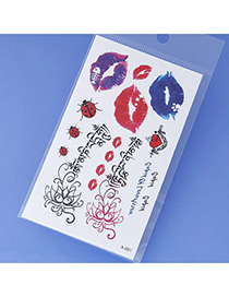 Magic Red Lips Pattern Simple Design Tape Tattoos Body Art