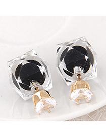 Joker Black Diamond Decorated Irregular Shape Design Alloy