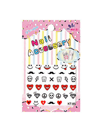 Rave  3D Cartoon Teeth&Diamond Design Stickers Nails
