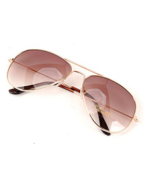 Fashion White+black Cat Eye Shape Decorated Sunglasses