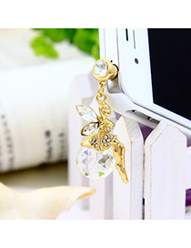 Folding white angel girl decorated alloy Mobile phone products