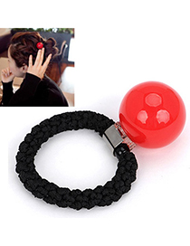 Travel plum red small ball decorated simple design rubber band Hair band hair hoop