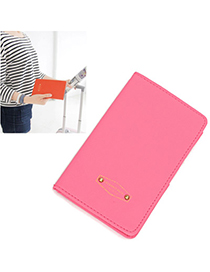 Piercing Plum Red Pure Color Simple Design Leather Household goods