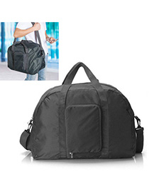 Recycled Gray Multifunction Foldable Design Nylon Shoulder bags