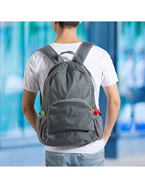 Maternity Gray Multifunction Foldable Design Nylon Backpack