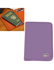 Afrocentri Purple Pure Color Simple Design Leather Other Creative Stationery