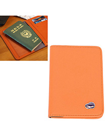 Seamless Orange Pure Color Simple Design Leather Other Creative Stationery