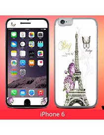 Crucifix Multicolor Eiffel Tower Pattern Simple Design (6) Leather Iphone 6