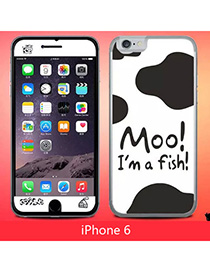 Personal Multicolor Cows Pattern Simple Design (6) Leather Iphone 6
