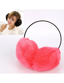 Energie Watermelon Red Pure Color Small Hoop Simple Design Pp Cotton Fashion Earmuffs