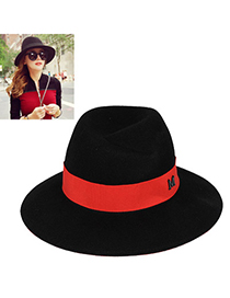 Chiropract Red Letter M Decorated Simple Design Woolen Beanies Others