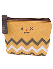 Daisy Yellow Smile Pattern Simple Design Canvas Wallet