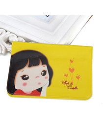 Engravable Yellow Cartoon Girl Pattern Simple Design (12-bit Cards) Pvc Household Goods