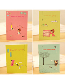 Punk Random Color Little Girl Pattern Simple Design Paper Notebook Agenda